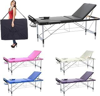 Camilla de masaje profesional 3 zonas de aluminio, 195 x 70