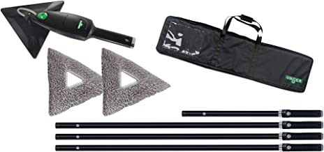 Unger Cleaner Stingray Set 450 OS for Smooth Surfaces and Windows Includes Handheld/Rods/Cleaning Pads/Bag SRKOH, Green, groß