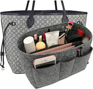 Felt Fabric Purse Tote Diaper Bag Organizer Insert Bag in Bag with Zipper Inner Pocket For Neverfull Speedy