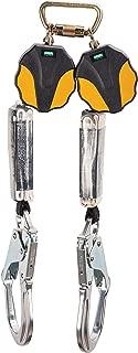 MSA 10157862 Workman Mini Twin-Leg ANSI-Certified Personal Fall Limiter with AL36CL Aluminum Rebar Hook, 6-Feet