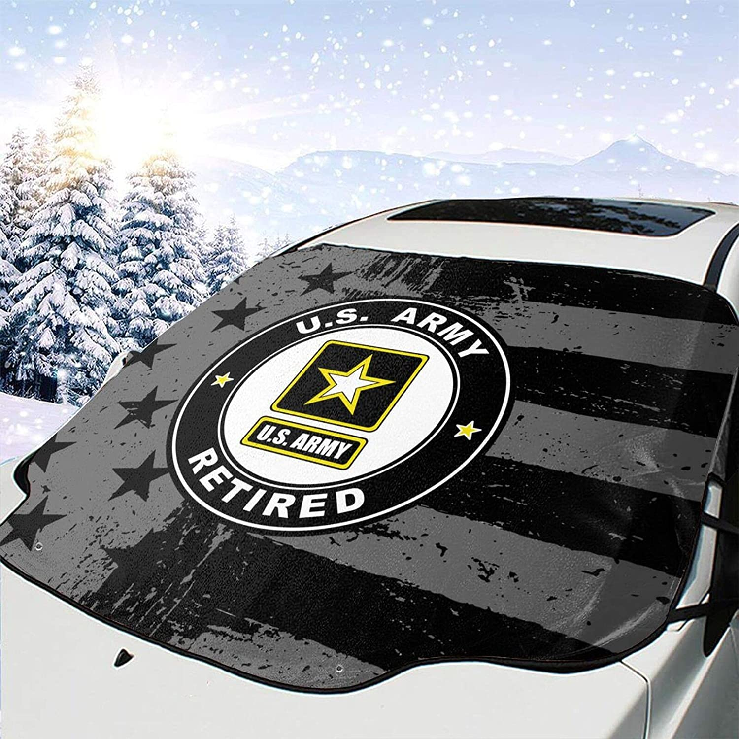 Us Army Retired Windshield Snow Cover Department store Don't miss the campaign Visor Ice Wiper Removal Pr