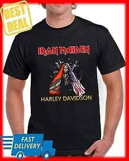 Iron Maiden Harley Davidson Skull American Flag T-shirt For Men Women