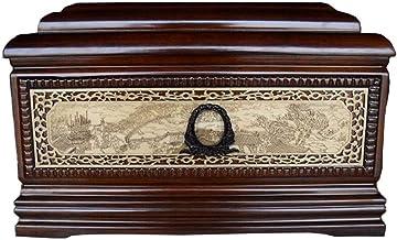 JIADUOBAO-urn Urn for Human Ashes, Cremation Urn Woodcarving Craftsmanship Qingming Shanghe Figure Pattern (Rosewood, 850 ...