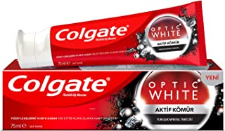 Colgate Optic White Charcoal Whitening Toothpaste, 75 ml