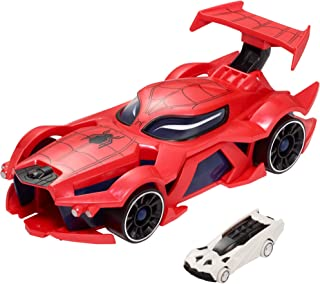Hot Wheels Marvel Spider Man Web Vehicle and Launcher, Multicolor