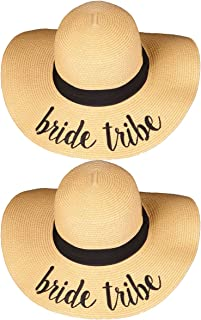 Womens Friends & Family Vacation Embroidered Floppy Beach Sun Hat Bundle