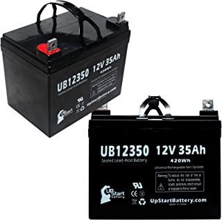 2 Pack Replacement for Hoveround MPV5 Battery - Replacement UB12350 Universal Sealed Lead Acid Battery (12V, 35Ah, 35000mAh, L1 Terminal, AGM, SLA)