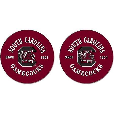 2 SEC SOUTH CAROLINA GAMECOCKS SANDSTONE CAR COASTERS ABSORBS SET