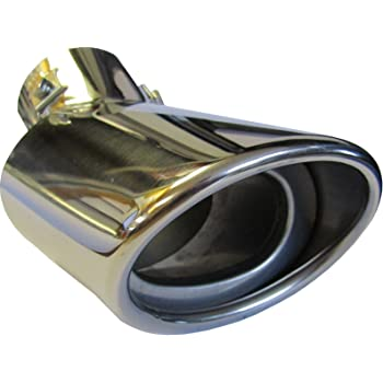 Opel Corsa E 125X200MM OVAL EXHAUST TIP TAIL PIPE PIECE CHROME SCREW CLIP ON