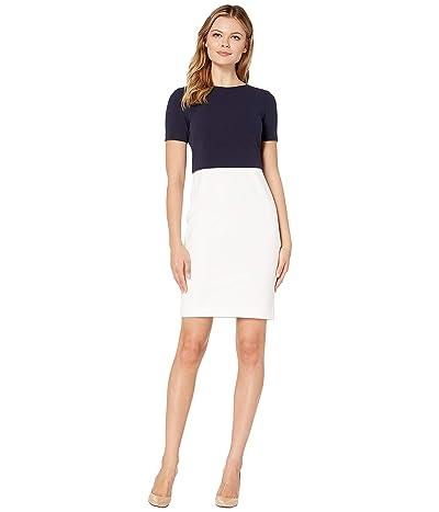 LAUREN Ralph Lauren Jeri Two-Tone Dress (Cream/Lighthouse Navy) Women