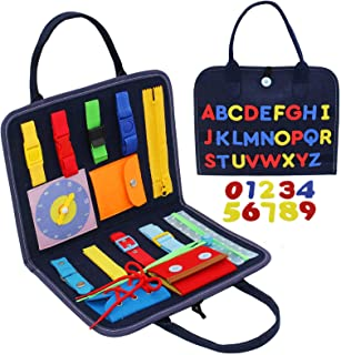 Feroxo Busy Board, Toddler Busy Board for 1 Year Old, Montessori Sensory Toys for Toddlers 1 3 Preschool Learning Toys Tra...