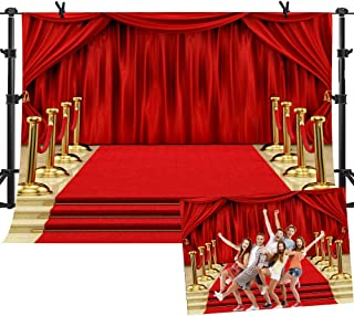 Red Carpet Curtain Backdrop YouTube Background Photo Studio Booth Props MME 10X7ft ME555
