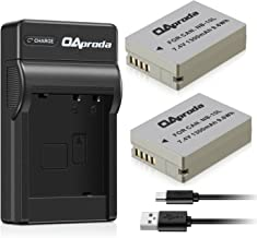 OAproda 2 Pack NB-10L Battery and Micro USB Charger for Canon NB-10L, Canon PowerShot SX60 HS, SX50 HS, SX40 HS, G15, G16, G1X, G3X, Digital Camera, CB-2LC Charger