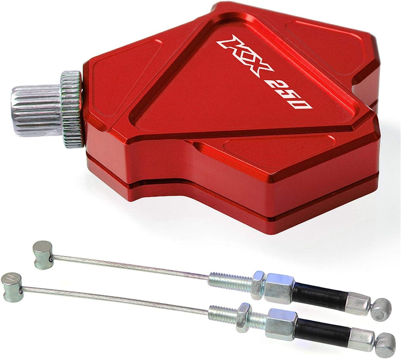 Shenyuan-Accessoires et pi/èces de rechange Compatible avec Kawasaki KX250 KX 250 1990-2008 1998 1999 2000 2001 2002 2003 2004 2005 2006 CNC Stunt Levier dembrayage Easy Pull Cable System