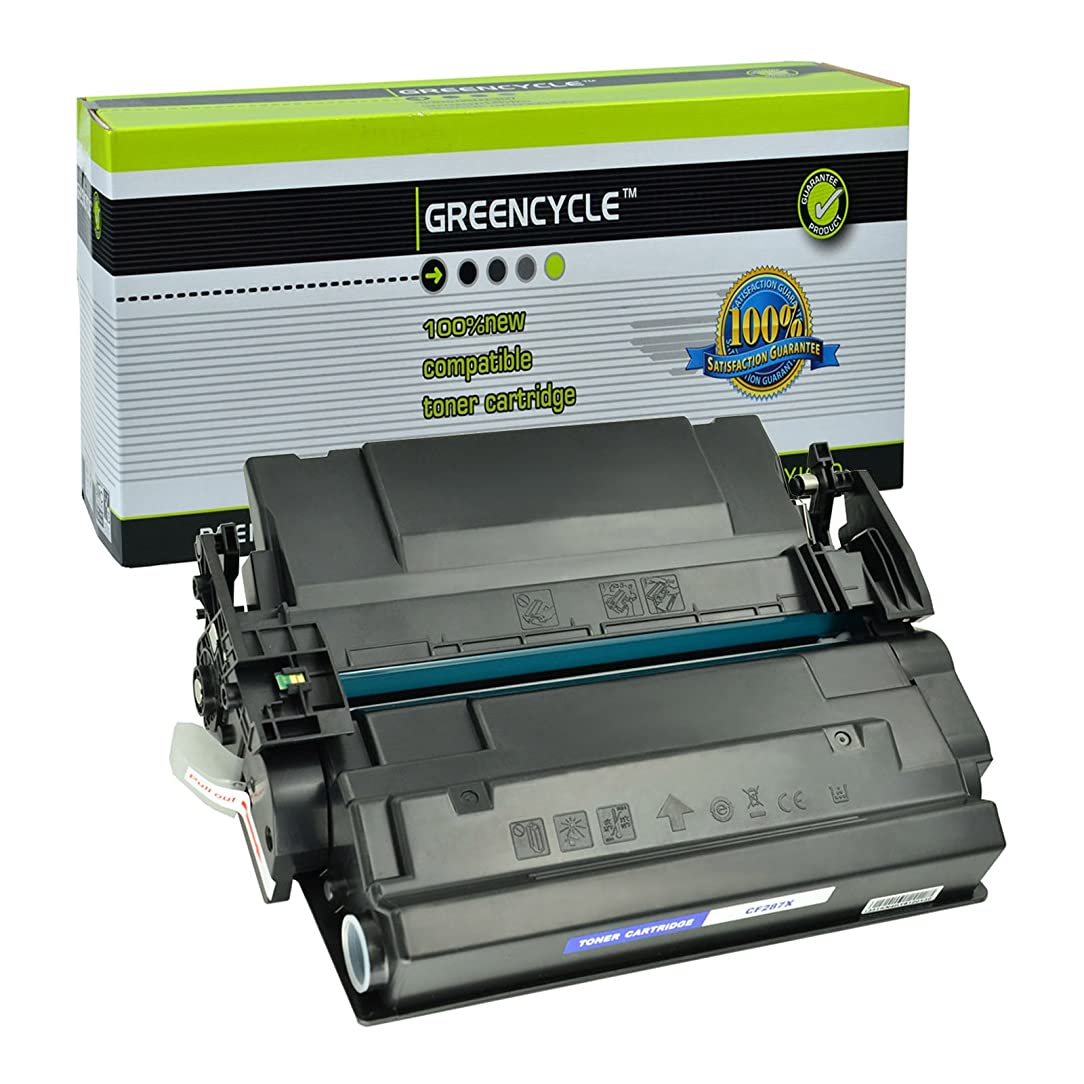 GREENCYCLE 1 Pack Compatible Toner Cartridge Replacement for HP CF287X 87X use in HP LaserJet Enterprise M501dn M506dn M506n M506x MFP M527 series, 18000 pages High Yield Black