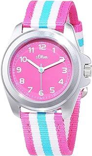 s.Oliver Kinder Analog Quarz Armbanduhr mit Textilarmband