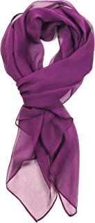 Best purple chiffon scarf Reviews