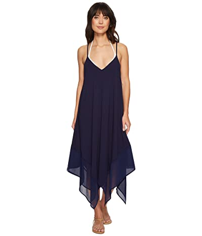 Tommy Bahama Cotton Modal Scarf Dress Cover-Up (Mare Navy) Women