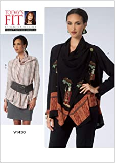 Vogue Patterns V1430 Misses' Blouse and Skirt Sewing Template, One Size
