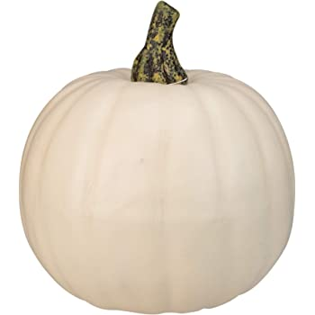 "Northlight 8.5"" Cream White Pumpkin Fall Harvest Table Top Decoration"