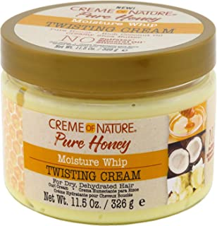 Creme Of Nature Pure Honey Twisting Cream 11.5 Ounce Jar (340ml) (2 Pack)