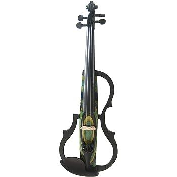 QING.MUSIC Stringed instrument Advanced Electric Violin 4/4 Violines eléctricos Accesorios de Rendimiento Profesional: Estuche, Arco, Resina, Cuerdas, Auriculares,N048: Amazon.es: Deportes y aire libre