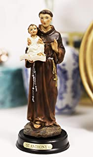 """Ebros Gift Catholic Church Saint Anthony of Padua Carrying Baby Jesus and The Bible Statue 5.25"""" Tall Patron for Lost Item..."""