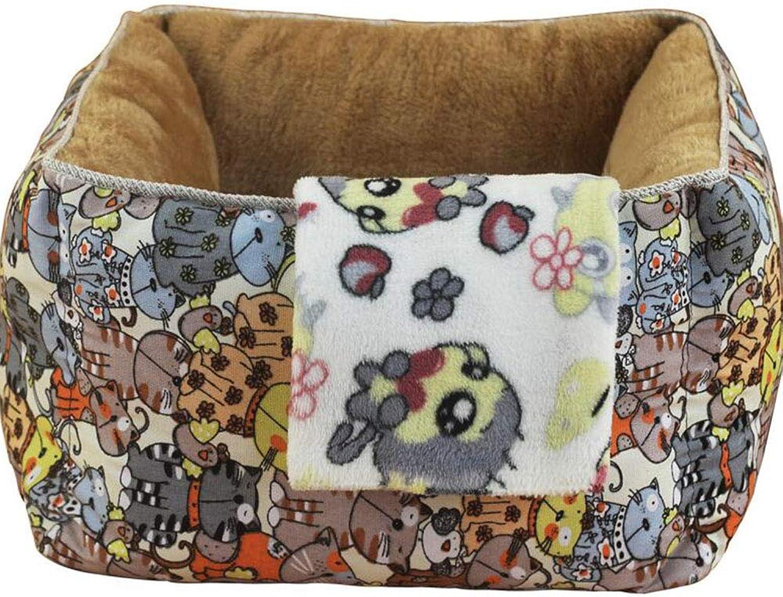 Cat House Detachable Four Seasons Universal Winter Warm Cat House Deep Sleeping Cat Mattress Summer
