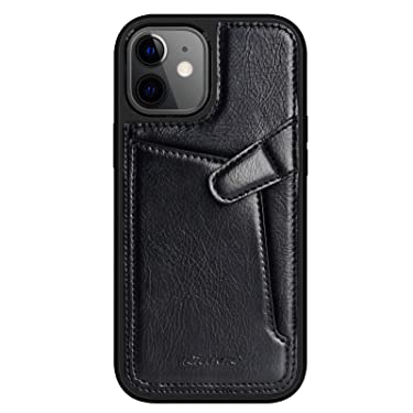 """Nillkin Case for Apple iPhone 12 Mini (5.4"""" Inch) Aoge Leather 360 Protection Elite Business Case with Soft Microfiber Lining & Internal Card Slot Black"""