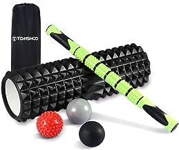 TOMSHOO 6-in-1 Fasciarol, met massageroller, massageballen, verwarmde of gekoelde zachte bal voor yoga, sport, fitness, pl...
