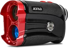 AOFAR Golf Rangefinder Slope on/Off, Flag-Lock with Vibration, 600 Yards Range Finder, 6X 25mm Waterproof, Carrying Case, Free Battery, Gift Packaging
