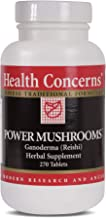 Health Concerns - Power Mushrooms - Ganoderma and Tremella Chinese Herbal Supplement - Enhances Immune Function - with Red Ganoderma (Reishi) Fruiting Body - 270 Tablets per Bottle