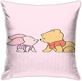 HHenry Winnie The Pooh and Piglet Cotton Pillow Throw Cushion Cover Case 1818 Inch Home Decoration