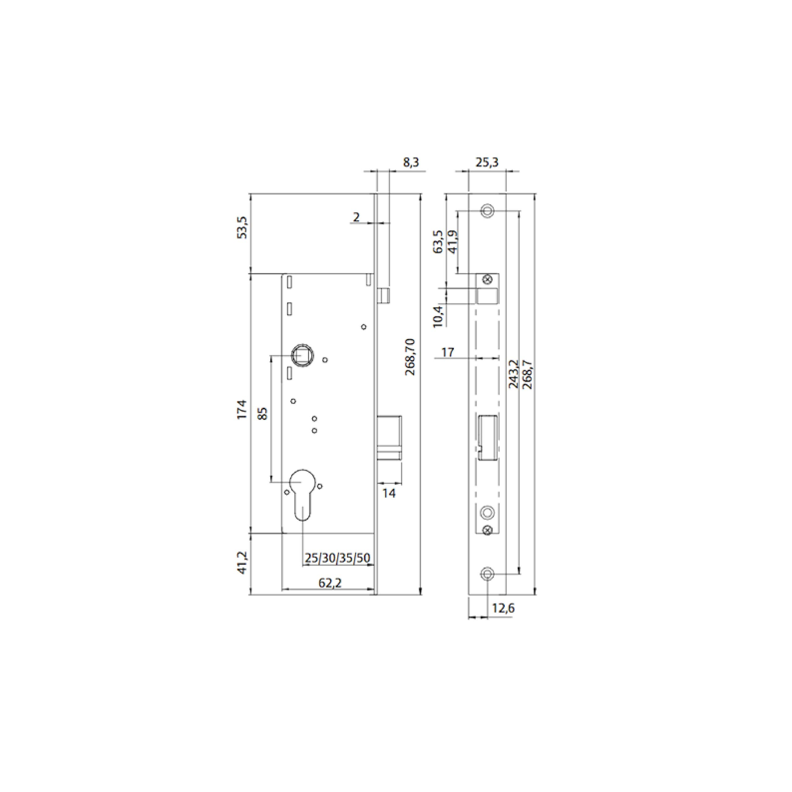Tesa Assa Abloy TCP35 Cerradura Eléctrica de Portal TCP 35, Acero Inoxidable, Entrada 35 mm: Amazon.es: Bricolaje y herramientas