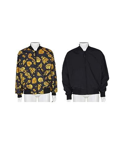 Versace Jeans Couture Jewel Baroque Print Reversible Bomber Jacket (Black) Men
