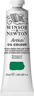 Winsor & Newton Artists' Oil Colour Paint, 37ml Tube, Winsor Green Yellow Shade