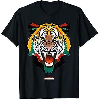 Fight Tiger Fashion Print Graphic Cotton Tee Shirt Short Sleeve T-Shirt for Men Women