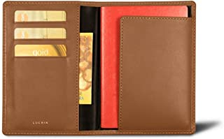 Lucrin - Australian Passport and loyalty cards holder - Tan - Genuine Leather