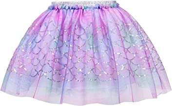 AmzBarley Girls Princess Christmas Sequins Skirts Tutu Dress Birthday Fancy Party Outfits 2-7 Years
