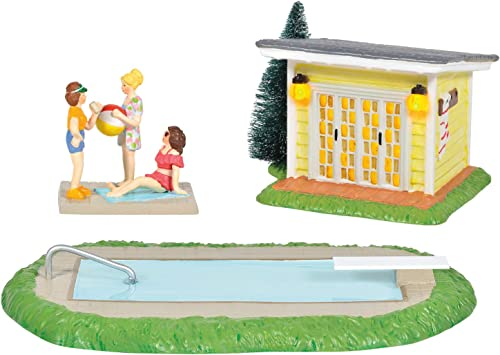 Department 56 Original Snow Village National Lampoon's Christmas Vacation Pool Fantasy Lit Building and Figurine Set,...