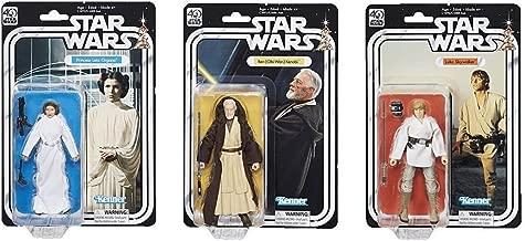 Star Wars The Black Series 40th Anniversary 6 Inch Figure Luke Skywalker & (OBI-Wan) Kenobi & Princess Leia Organa 3 Pack Set