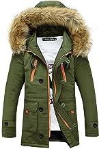 Tomsweet Autumn Winter Men Warm Thick Padded Hooded Outerwear Bomber Jacket Zip up Biker Motor Coat Blazer Parka