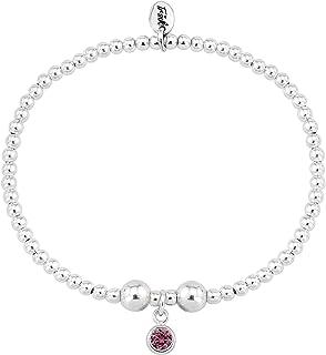 e3ea50c24 Trink Brand Sterling Silver Beaded Birthstone Birthday Month Bracelet -  January, February, March,