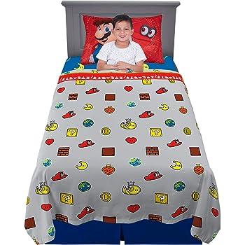 Kitchen Designers Franco Kids Bedding Soft Sheet Set, 3 Piece Twin Size, Super Mario Odyssey