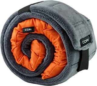 CORI Travel Pillow - World's 1st Customizable Memory Foam Travel Neck Pillow That ADAPTS to You for The Best Support, Comfort & Portability (Tangerine)