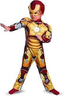Disguise Marvel Iron Man Movie 3: Iron Man Mark 42 Muscle Costume, 3T-4T