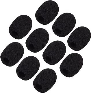 Sunmns ch05-cover Mini Lapel Headset Microphone Windscreen Foam Cover, Black, 10 Piece