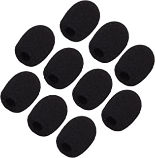 Black eBoot 5 Pack Mini-size Lapel Headset Microphone Windscreen