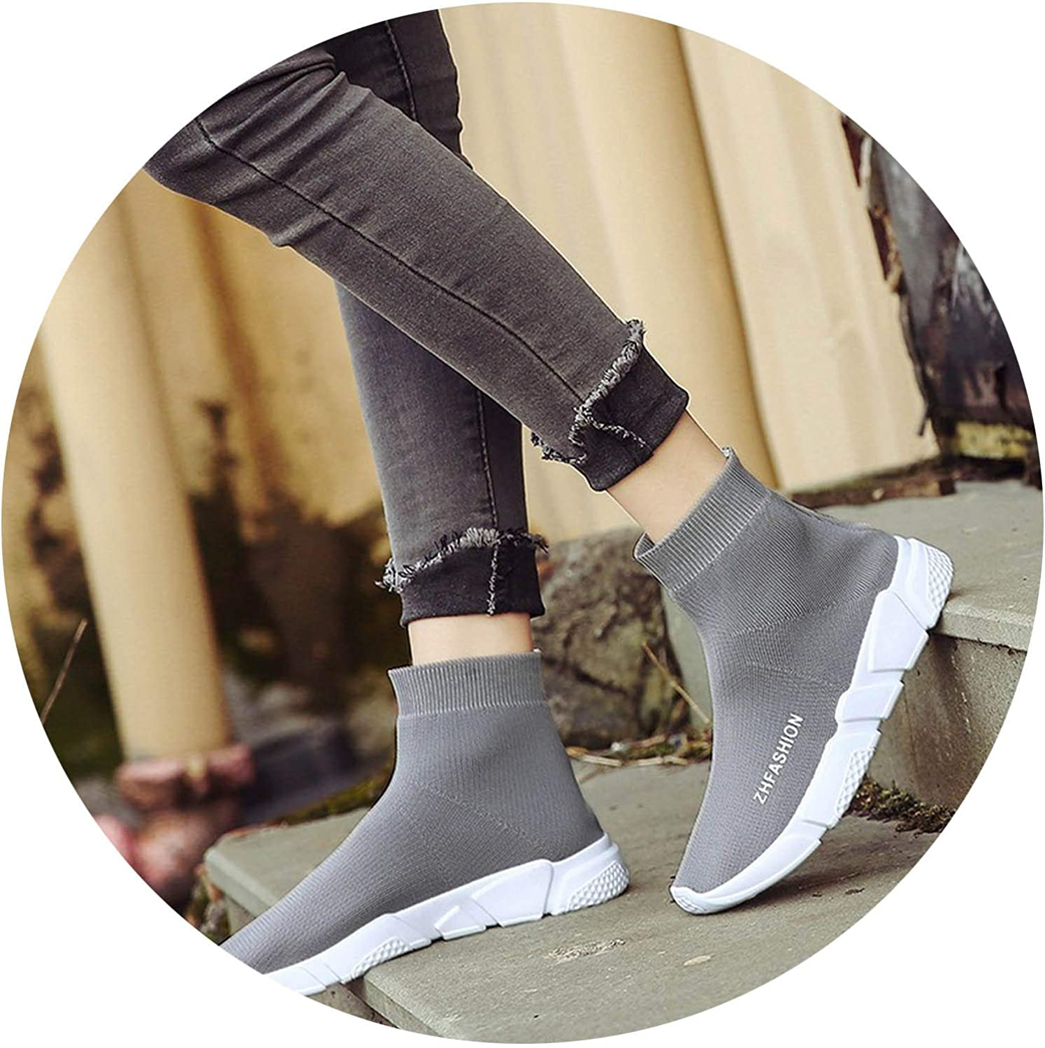 Juvenile shoulder 2018 New Stretch Fabric Slip On Over The Knee Women Stiletto Sock Boots for Womens