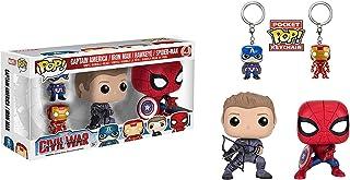 Figuras de Spiderman, Iron Man y Capitán América de Funko POP Marvel
